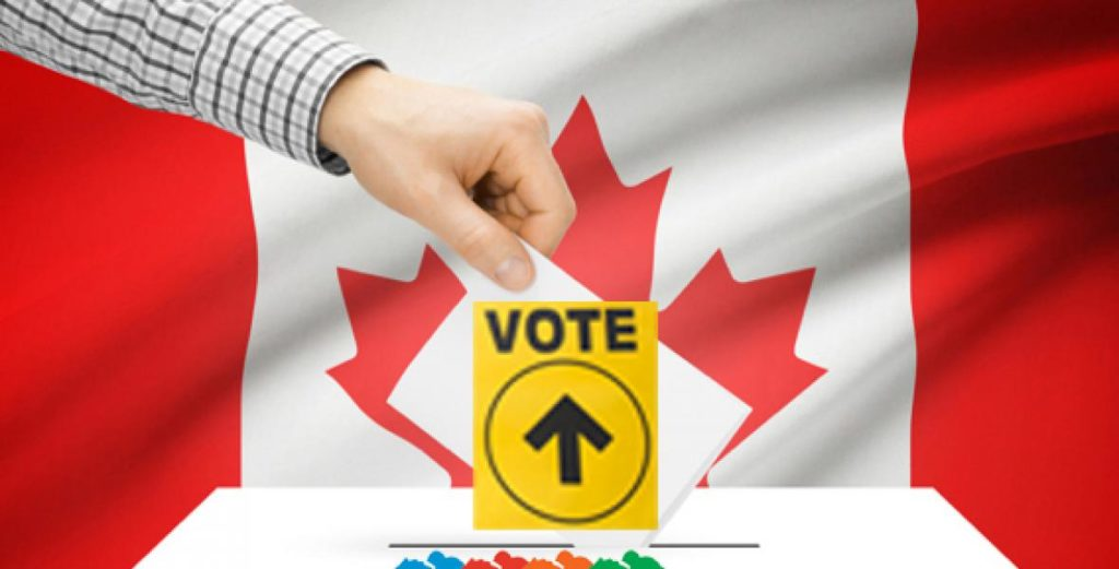 Election Canada Voting Ballot